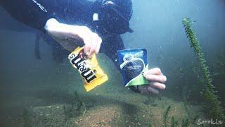 M&M's или ЧЕРНАЯ ИКРА??? Реакция рыбы. Подводная съемка