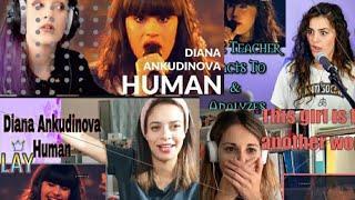 "Amazing Diana Ankudinova -Human(Диана Анкудинова) mix reactions, Track ""Rag'n'Bone Man"""