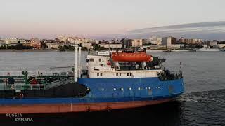 Строительство постоянного пассажирского причала на реке Волга / город Самара / Russia