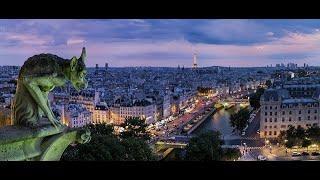 Самые красивые места в Париже в формате видео 4к.