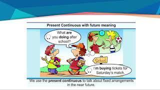 IV четверть, английский язык, 6 класс, Language Focus 2  Present Continuous for future