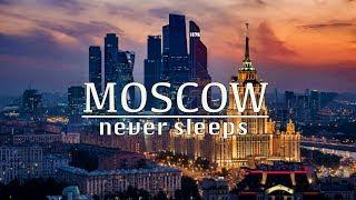 MOSCOW AT NIGHT. Amazing Winter 2020. Moscow never sleeps RUSSIA 4K