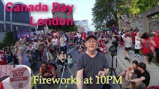 Dundas Place London - Canada Day Fireworks 2019 at the Thames Forks