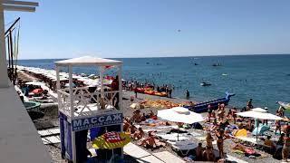 Лазаревское август 2018 на Пляже нет свободных Мест