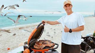 Рыба и Мясо на Гриле на Пляже в Майами. Подводная Охота на Монстров