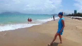 Нячанг Первые впечатления русских туристов во Вьетнаме  Пляж и море в марте   2 серия