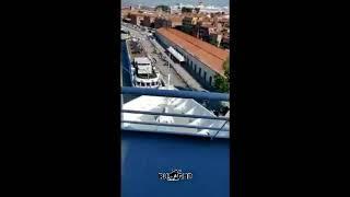 Таран круизного лайнера в Винеции. Вид с лайнера.
