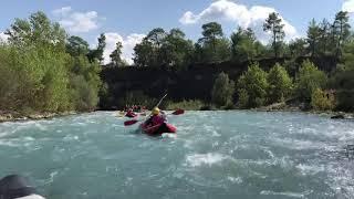Спуск на Байдарке по БУРНОЙ ГОРНОЙ РЕКЕ! Rafting Antaliya 19