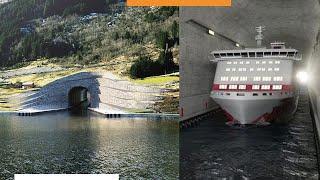 Норвегия строит первый в мире туннель для круизных кораблей