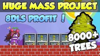 BEST MASS PROFIT PROJECT (8,000 TREES) HUGE PROFIT MASSING CHECKPOINT - GROWTOPIA PROFIT 2021