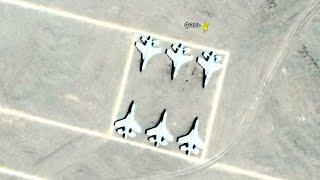 Китайские фейк аэродромы и остовы от гигантских лабиринтов