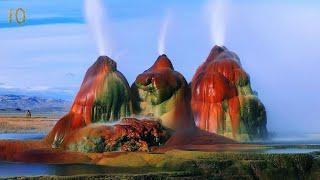 Самые Красивые Места Планеты ТОП 10 Гейзер Флай Мраморные пещеры Аризонская волна Голубая Дыра