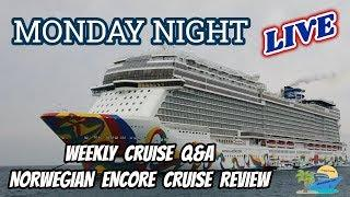 MONDAY NIGHT LIVE   SHARON AT SEA TRAVEL   WEEKLY CRUISE CHAT LIVE SHOW