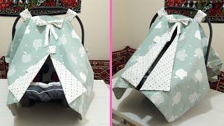 Puset örtüsü dikimi nasıl yapılır? | How to make a baby car seat cover