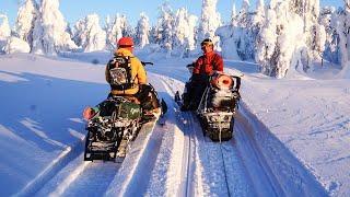 Пробираемся на снегоходах в самые красивые места России! Гора Полюд, Пермский край.