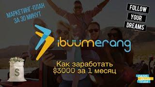 IBUUMERANG / Маркетинг / Как создать доход в $3000 за 1-й месяц